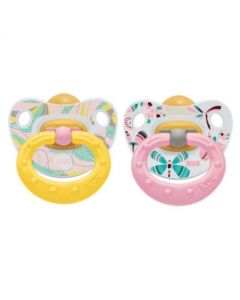 NUK Happy Kids Soother 0-6 Months- Twin Pack