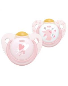 NUK Rose & Blue Size 2 Soothers - Pink