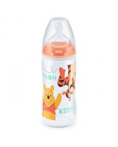 NUK Winnie the Pooh First Choice + 300ml Bottle 0-6 months Silicone Teat