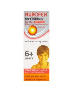 Nurofen For Children Six Plus Strawberry With Spoon 200ml