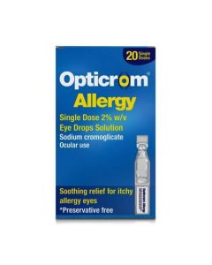 Opticrom Allergy Single Dose 2% Eye Drops 20 Pack