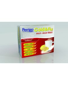 Perrigo Cold and Flu Multi-Relief Max Sachets 10's