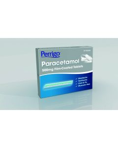 Perrigo Paracetamol 500mg Film Coated Tablets