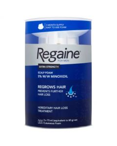 Regaine For Men Extra Strength Foam (3 x 60g)