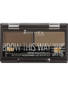 Rimmel Brow This Way Eyebrow Sculpting Kit (Mid Brown)