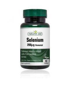Natures Aid Selenium 200ug, with Zinc and Vitamins A, C & E (90)