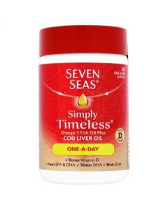 Seven Seas Cod Liver Oil One-A-Day Capsules - 60