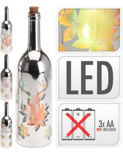 Silver Bottle With LED Lighting