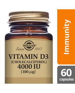 Solgar Vitamin D3 4000 IU (100ug) Vegetable 60 Capsules