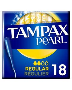 Tampax Pearl Regular Tampons 18 Pack