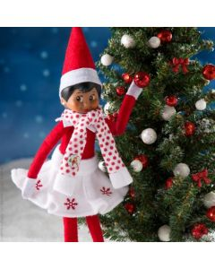 The Elf on The Shelf Snowflake Skirt & Scarf Outfit