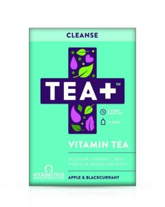 Vitabiotics TEA+ Cleanse Vitamin Tea - Apple & Blackcurrant