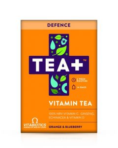 Vitabiotics TEA+ Defence Vitamin Tea - Orange & Blueberry