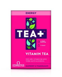Vitabiotics Tea+ Energy Vitamin Tea - Raspberry And Pomergranate