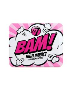 W7 Bam! High Impact Highlighter Trio Make Up Highlight Gift Set