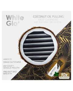 White Glo Coconut Oil Pulling Sachets 10 Pack