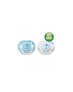 Avent Night Time Soother 0-6 months 2pk