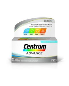 Centrum Advance supplements your diet and lifestyle by containing essential vitamins and minerals recommended on a daily basis. Buy Centrum Advance online in Ireland today.
