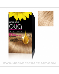 With Garnier Olia Hair Colour - conditioning oils boost the colouring process.  Buy Garnier Olia online in Ireland today for fast delivery. 9.0 Light Blonde