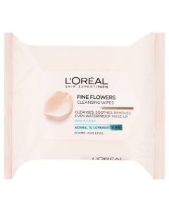 L'Oreal Paris Fine Flowers Cleansing Wipes Normal to Combination