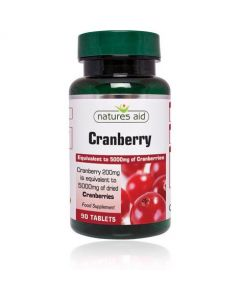 Natures Aid Cranberry 200mg - 90 Tablets