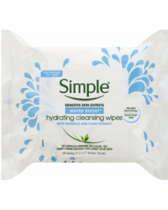 Simple Water Boost Hydrating Cleansing Wipes 25 Wipes
