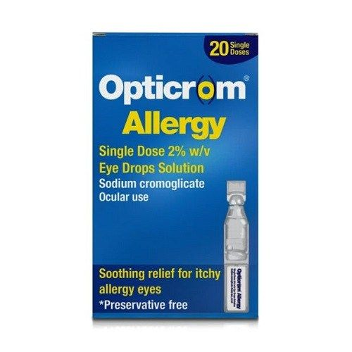 Allergy Eye Drops >> Opticrom Allergy Single Dose 2 Eye Drops 20 Pack Next Day Delivery