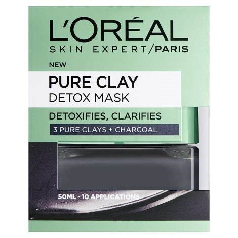 loreal detox clay mask