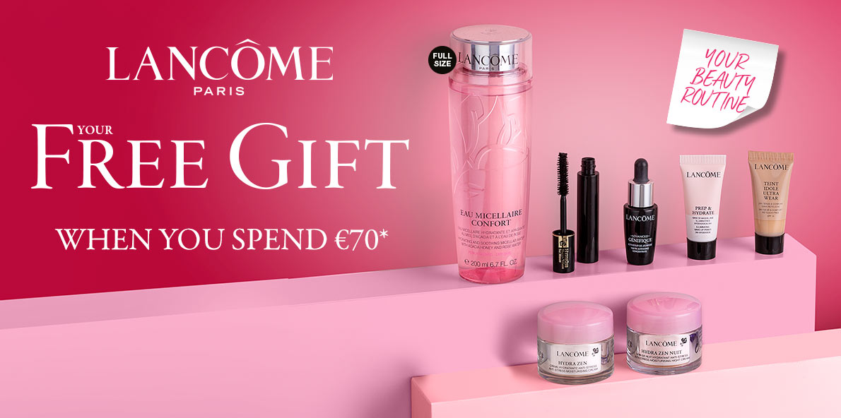 Spend €70 and get a free lancome gift with purchase