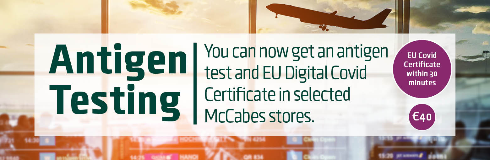 McCabes Pharmacy online Antigen tests available to book in store appointments