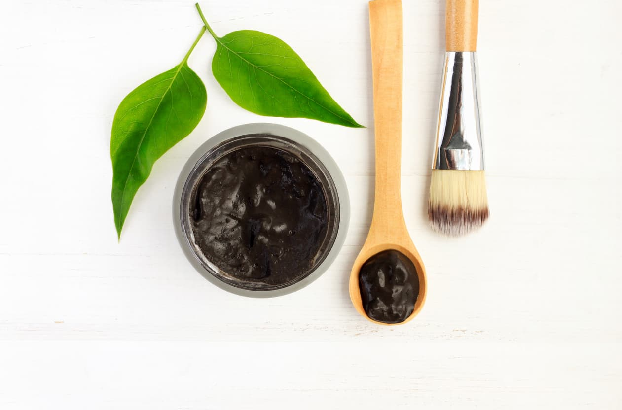 black clay mineral face mask