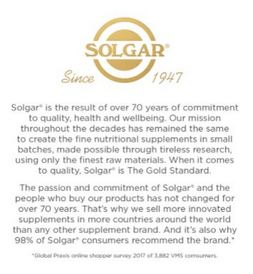 About Solgar Supplements