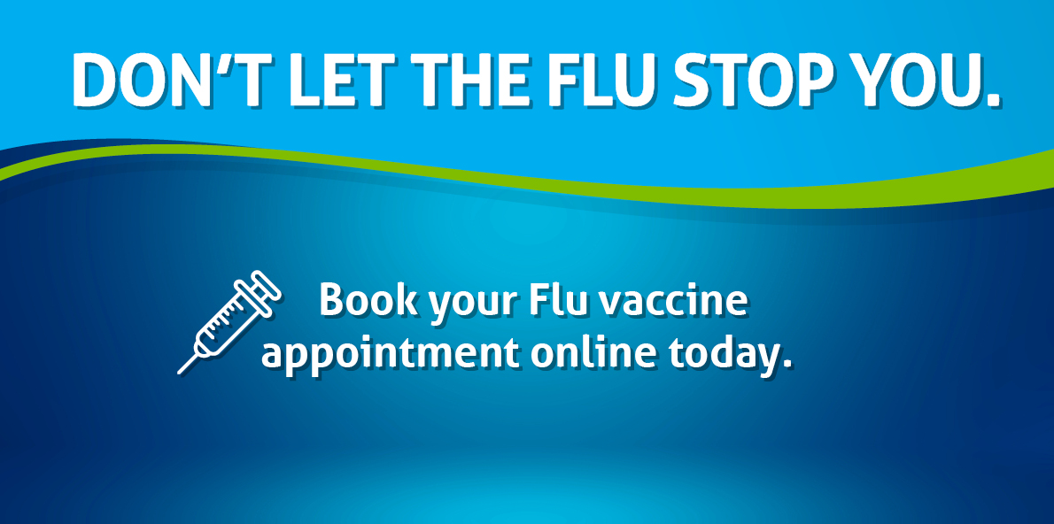 Book your flu appointment online at mccabes pharmacy